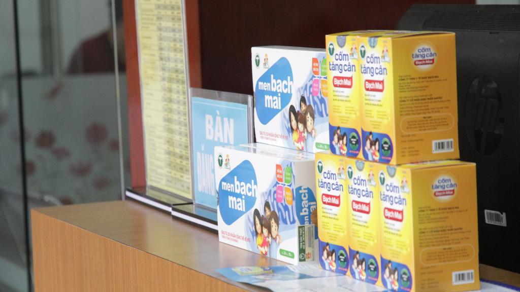 Khách hàng có thể mua sản phẩm tại quầy dinh dưỡng và sản phẩm Trung tâm tiêm chủn và tư vấn dinh dưỡng Bắc Giang