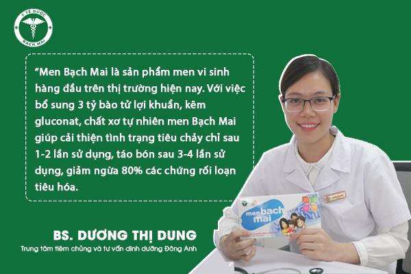 Bác sĩ Dương Thị Dung, Trung tâm tiêm chủng và tư vấn dinh dưỡng Đông Anh